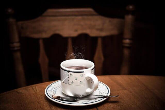 紅茶のワッフル